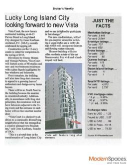 Lucky Long Island City looking forward to new Vista
