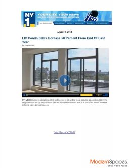New York 1 – LIC Condo Sales Increase 50%