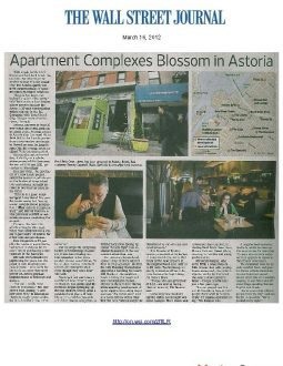 Wall Street Journal – Apartments Blossom in Astoria
