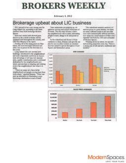 Brokers Weekly – Modern Spaces Market Report 2011