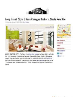 Curbed – L Haus chooses Modern Spaces to replace Elliman