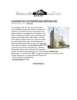 Curbed – Long Island City's The View 60% Sold, Still Aiming High