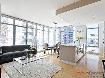 One Northside Piers, 2bedrooms, 2baths with north and west exposure, river views.