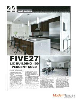 Five27: LIC Building 100 Percent Sold