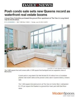Posh condo sale sets new Queens record as waterfront real estate booms