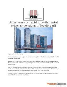 After years of rapid growth, rental prices show signs of leveling off – LIC Post