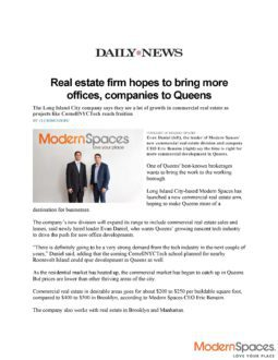 Real Estate Firm Hopes to Bring More Offices, Companies to Queens