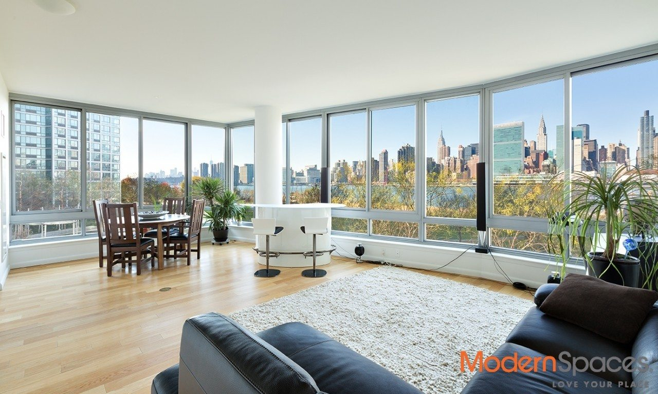 The View, 3 bedrooms, 3baths with direct views of the east river and Manhattan Skyline.
