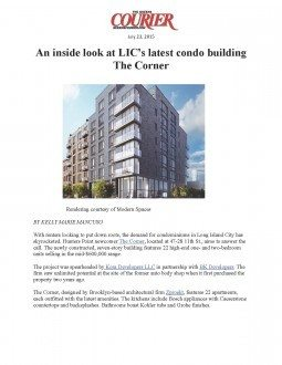 An inside look at LIC's latest condo building The Corner – The Queens Courier