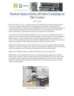 Modern Spaces Kicks off Sales Campaign at The Corner – TCSB