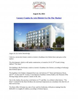 Luxury Condos In Arts District Go On The Market – Astoria Post