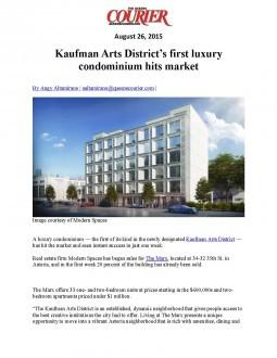 Kaufman Arts District's first luxury condominium hits market – The Queens Courier