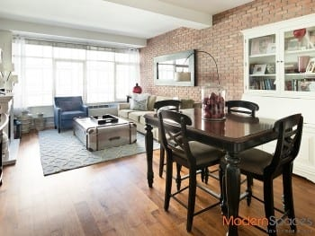 Beautiful Brickwork Brings 2BR/2BA Elemental Elegance at The Powerhouse