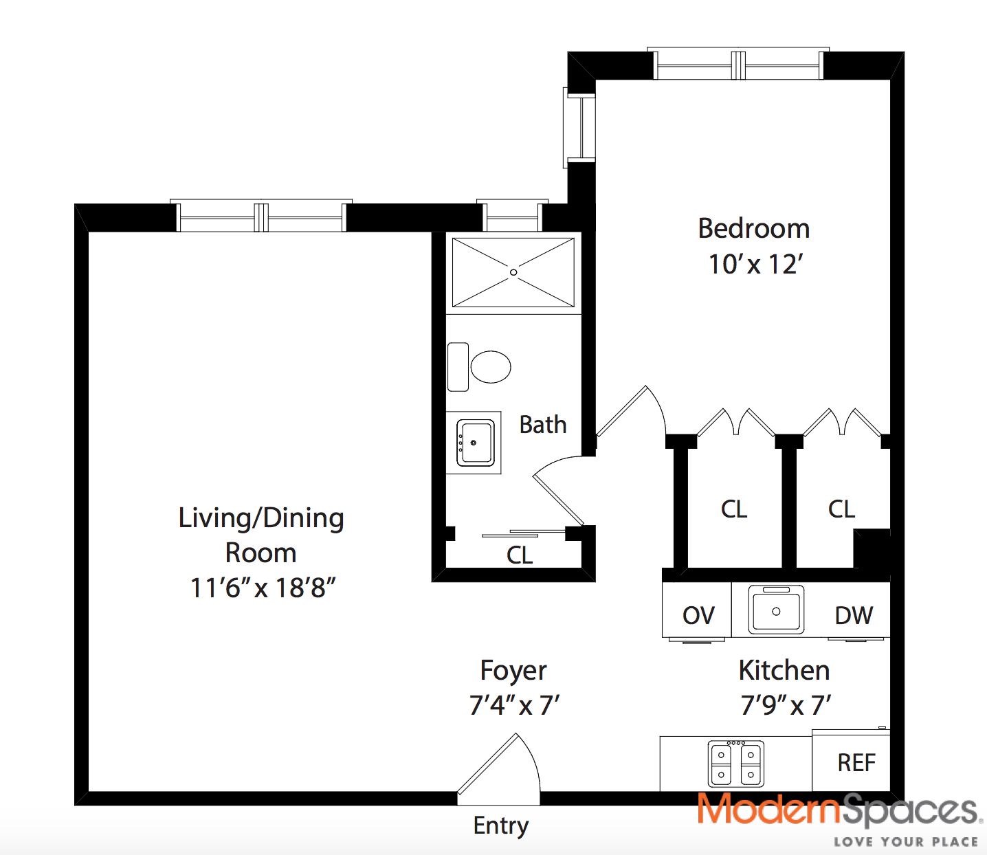 305 WEST 18TH STREET, 4C Is A 1-bedroom Condo For Sale In