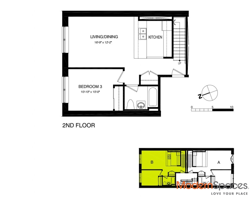Investment 3-Level Home with Outdoor Living in 3BR/3BA Penthouse 2B