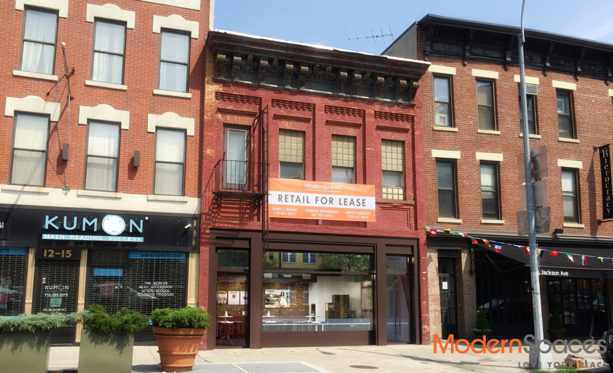 Jackson Avenue Retail for Lease
