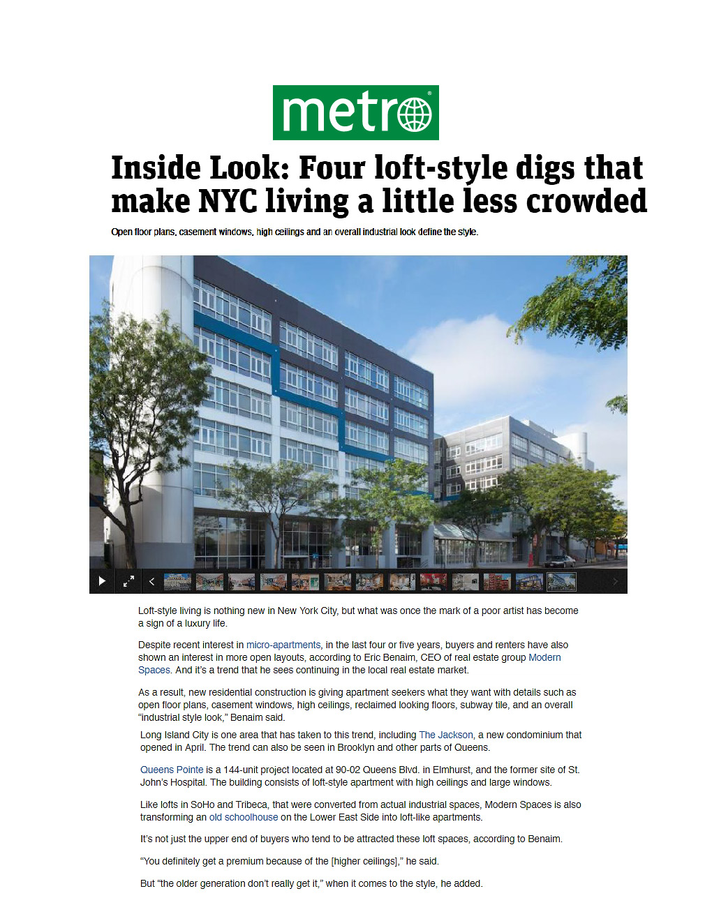 Metro - Inside Look- Four loft-style digs that make NYC living a little less crowded 7.13.16 (1)_Page_1