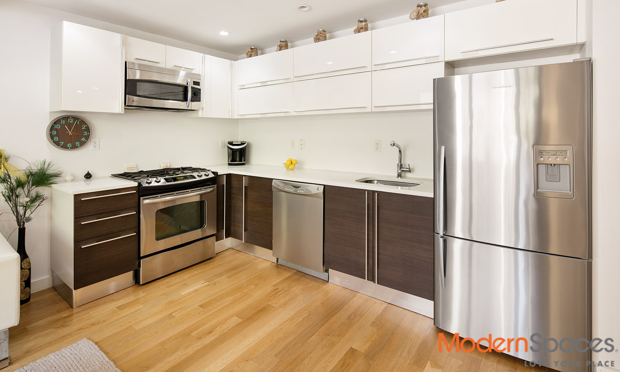 Spacious 1 Bed with Parking in Amenity Rich Condo 1 block from N/Q Trains