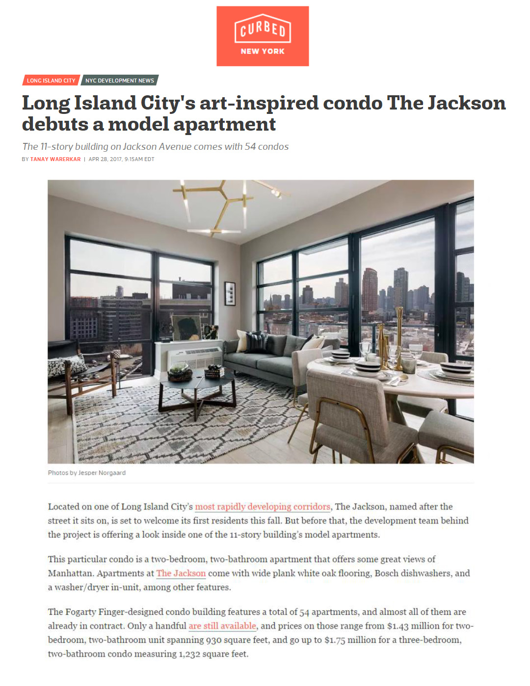 long island city s art inspired condo debuts a model apartment