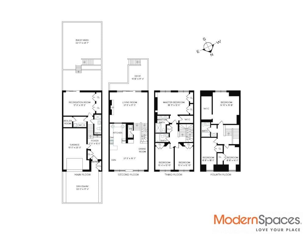 Magnificent 6-BR / 4.5 BA Neo-Georgian Townhouse Floor Through w/ Deck, Backyard and Fireplace