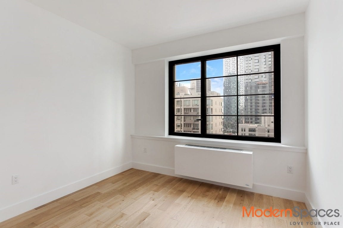 No fee, never lived in 1 bedroom with washer dryer/ brand new amenities filled luxury building by all subways