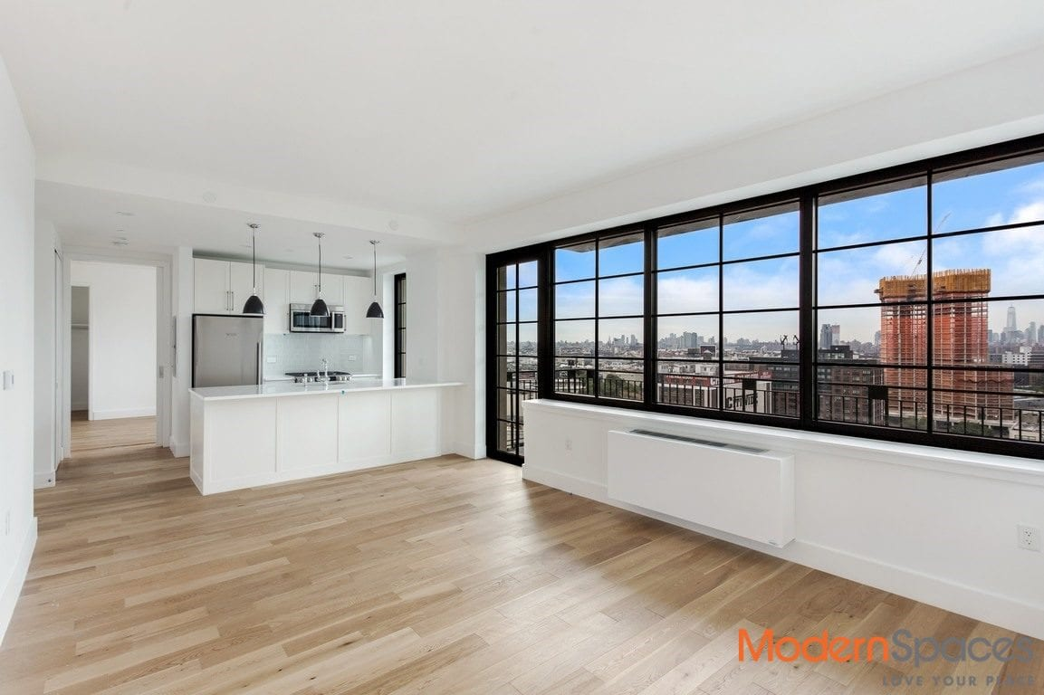 Gorgeous south/west facing 2 brs/2baths with large balcony and views of the city, storage included