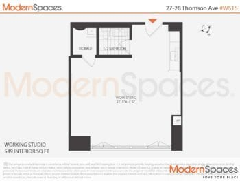 Rarely Available Commercial Condo Loft Work Space 15