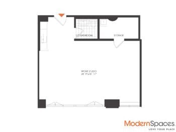 Rarely Available Loft Commercial Condo Work Space 16