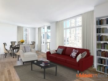 Stunning Elevated River & Manhattan Views from 2 Bed/ 2 Bath Penthouse in LIC Prime