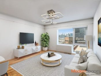 Partial River & Manhattan Views at 1 Bedroom in Optimal Hunters Point