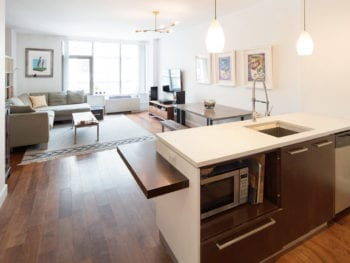 1 Bed / 1.5 Bath Superior & Sizeable Rental 888 sf. at Luxury Powerhouse