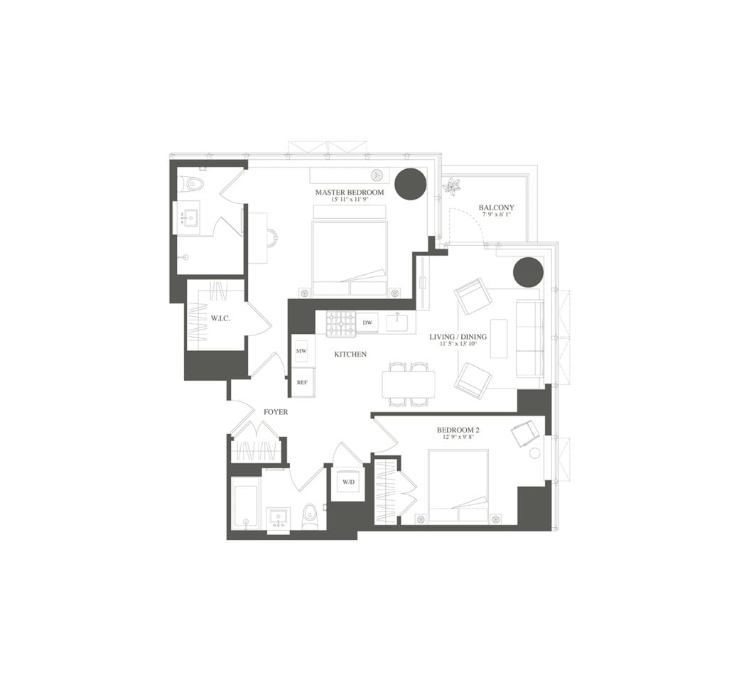 Tower 53 Condos For Sale And Condos For Rent In Manhattan: 23-15 44th Drive, 1003 At Skyline Tower Is A 2-bedroom
